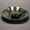Green Luster Plate and Cup