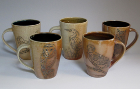 Bird Cups with Lines