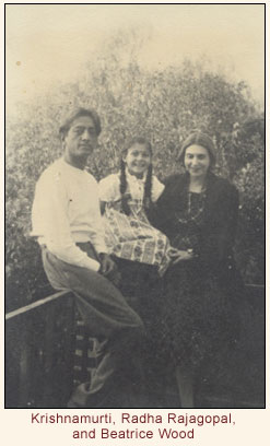 Krishnamurti, Radha Rajagopal, and Beatrice Wood