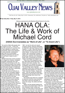 Read About Michael Cord - Ojai Valley News - May 15, 2015