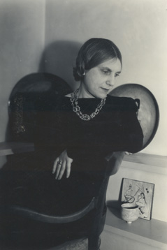 Beatrice Wood at America House Exhibition, New York, 1947