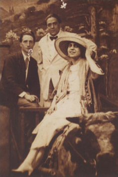 Beatrice Wood with Marcel Duchamp - June 21, 1917 in Coney Island