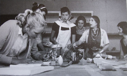 Beatrice Wood Teaching Students at the Happy Valley School, 1960