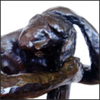 Kneeling Figure - detail