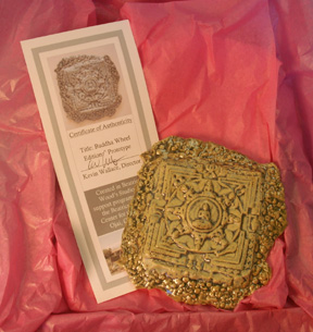 Buddha Wheel with Certificate of Authenticity