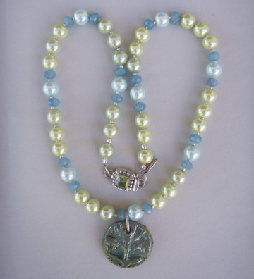 Lustre Tile Goddess Series Necklace